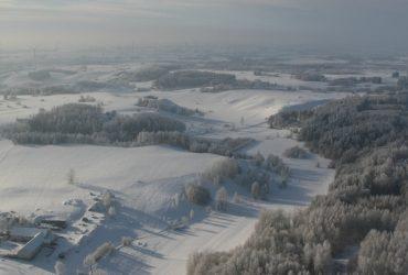 Zima z lotu śmigłowca – Suwałki i okolice