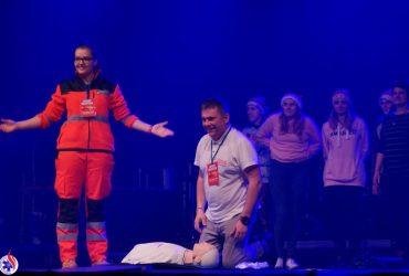 """Koncert edukacyjny """"5 złotych minut ratujących życie"""". Torwar, 6.12.2017"""